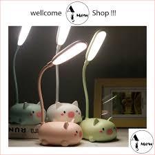 Đèn Để Bàn Học Mini Hình Thú Đáng Yêu - Đèn Ngủ / LED Trang Trí / Cute Ngộ  nghĩnh - A MEW SHOP - Đèn bàn Hãng No brand