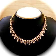 simple indian diamond necklace