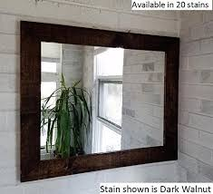 amazon com renewed d cor shiplap reclaimed wood mirror in 20