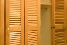 slatted doors. Update Louvers With Plywood Panels. Slatted Doors