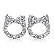 JewelryPalace Cat Face Pet Love 0.2ct Cubic Zirconia ... - Amazon.com