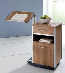 Staggering Bedside Table On Casters And Integrated Over Bed Cosimo ...