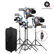 Arri Fresnel Light Alumotech As Arri Fresnel Tungsten Dimmer Built In Light 300wx2 150wx2 Standx4 Case Kit For Camera Video Studio Photography