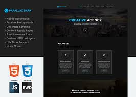 Weebly Website Templates Delectable Parallax Dark A One Page Custom Weebly Template That Will Knock