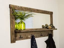 Wall Mounted Coat Rack Mirror