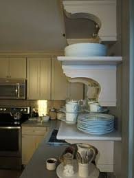 the corbels are modeled after antique brackets that i have at my farm open shelves