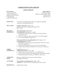 Job Resume Examples Sample Resume For Entrylevel Pta Copy Entry Level Resume Example 75