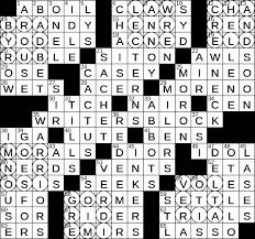 la times crossword 6 sep 18 thursday