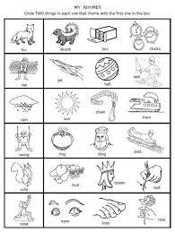 11. free printable rhymes rhyming words worksheets for preschool ...
