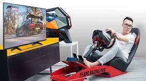 Combo chơi game PXN V900 Racing Wheel và Ghế chơi game đua xe F1 APC  Playgame Racing SIM / Flight SIM Pro F1 Seat