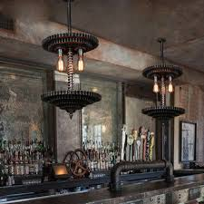 bar pendant lighting. Loft Industrial Style Pendant Lighting Restaurant Creative Gear Vintage Lamp Coffee Shop Bar Edison Light Fixtures