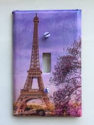 Decoupage Light Switch Plates Eiffel Tower Switch Plate Cover Single Toggle Cover Of Paris