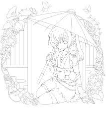 黒崎ナナさんのイラストレーション 線画塗り絵イラストコンテスト2009