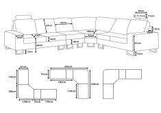 T Marvelous Standard Size Sofa Design Ideas Long Average Length In  List Of