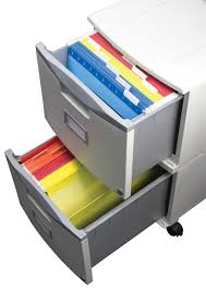 Two Drawer Mobile File Cabinet with Lock Storex