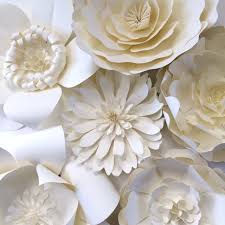 White Paper Flower Backdrop Paper Flower Wedding Reception Wall Ideas Mid South Bride