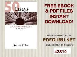 essays a portable anthology 50 essays a portable anthology