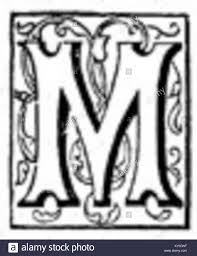 fancy letter m fancy letter m stock photos fancy letter m stock images alamy