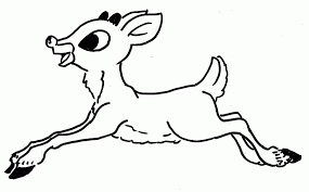 Small Picture How To Draw Rudolph The Red Nosed Reindeer Coloring Home