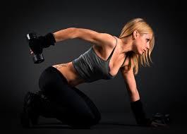 Tapety ženy Blondýnka Sport Tetování Tenký Výstřih Fitness