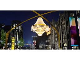 playhousesquare transforming downtown cleveland theater district with lights signs chandelier