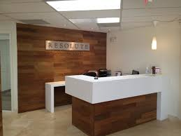 custom reception desk resolute commercial services scottsdale az