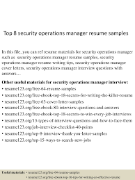 Sample Security Manager Resume Top224securityoperationsmanagerresumesamples224lva224app622492thumbnail24jpgcb=224243224653722424 14