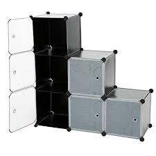 diy closet office. C\u0026AHOME - 6 Cube DIY Closet Organizer Media Storage Cabinet Toy Rack  Bookcase Shelf With Doors Diy Closet Office