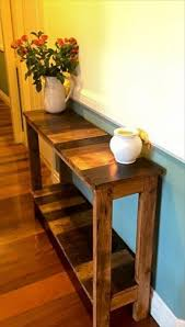 wooden pallets designs. antique pallet entry/hallway console - 130 inspired wood projects | 101 ideas wooden pallets designs p