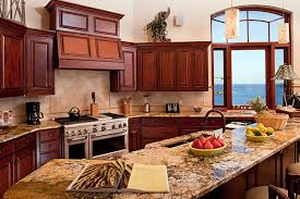 B Mahogany Kitchen Cabinets Kitchen Mediterranean With Island  Mahogany Image By Architect Michael L Oxman Associates