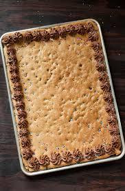 sheet pan cake recipe sheet pan cookie cake recipe peas and crayons