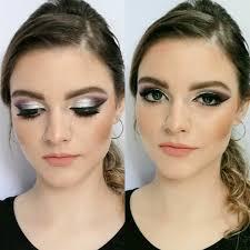 big eyes silver makeup