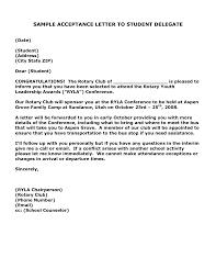 letter template acceptance letter template