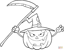 Small Picture Cartoon Halloween Pumpkin coloring page Free Printable Coloring
