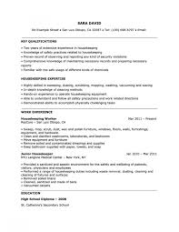 Housekeeping Resume Inspiration Housekeeper Resume Sample Key Qualifications Housekeeping Within