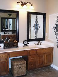 bathroom impressive design ideas for brushed nickel bathroom mirror diy wooden mirrors impressive design ideas