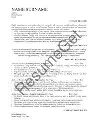 Science Teacher Resume Examples 2019 Resumeget Com
