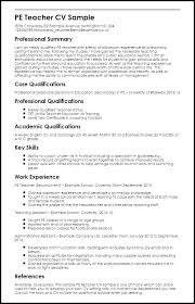 Physical Education Resume Examples Teacher Resume Objective Sample ...