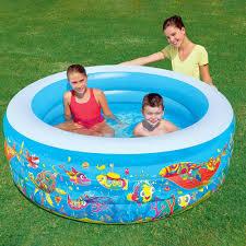 <b>Бассейн</b> надувной 196х53 см <b>детский Bestway Подводный</b> мир