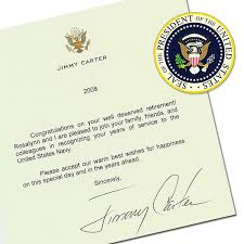 Letter Of Appreciation From Former President Creative Gift Ideas