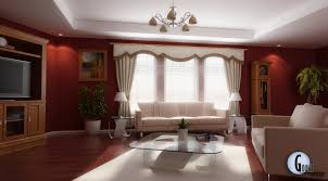 Nice Decor In Living Room Magnificent Red Living Room Design With Nice Glass Coffee Table