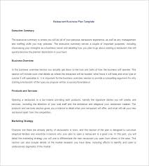 Restaurant Business Plan Template – 14+ Free Word, Excel, Pdf Format ...