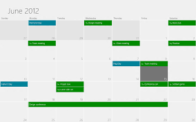 Adding Grids To Windows Designing The Windows 8 Calendar App Building Windows 8