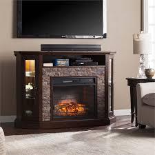 southern enterprises redden corner electric fireplace tv stand
