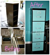 File Cabinet Paint Life After The Aisle Diy Filing Cabinet Redo