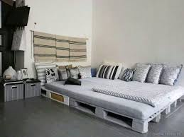 pallet bedroom furniture. Large Sized Pallet Bed Ideas With Cool Grey Themed Duvet Cover Applied At Contemporary Bedroom Flooring And Mesmerizing Side Table Furniture I