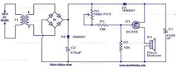 power supply failure alarm circuit Alarm Wiring Diagram For A Homemade XR500 Security Wiring Diagram