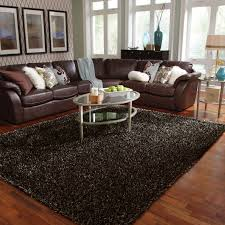 Modern Living Room With Brown Leather Sofa Living Room Amazing Yellow Carpet Living Room Designs With
