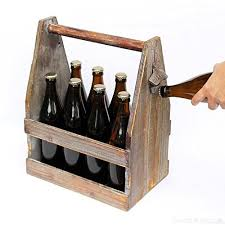 dandibo beer carrier with bottle opener 5087 beer crate made from wood 38 cm bottle carrier b071rtq4wt