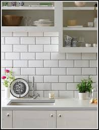 White Subway Tile Backsplash With White Grout
